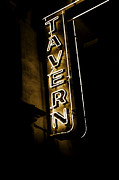 Nightclub Posters - Neon Tavern Sign Poster by John Stephens