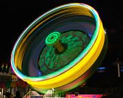 Neon Tilt A Whirl Print by Sonja Quintero