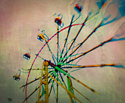 Artist With Camera Prints - Neon Wheel Print by Joye Ardyn Durham