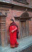 Old Lady Framed Prints - Nepalese Woman Framed Print by Dorota Nowak