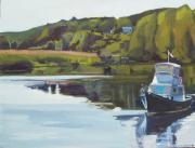 Massachusetts Paintings - Neponset River Morning by Deb Putnam