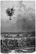 Neptune Prints - Neptune Balloon Accident, 1878 Print by