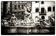 Neptune Photo Prints - Neptune in Navona Print by John Rizzuto