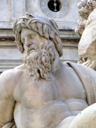 Greek Sculpture Prints - Neptune Print by Mindy Newman