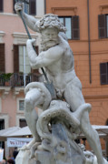 Struggling Photos - Neptune struggling with an octopus II by Fabrizio Ruggeri