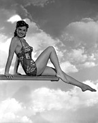 Esther Framed Prints - Neptunes Daughter, Esther Williams, 1949 Framed Print by Everett