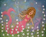 Nursery Paintings - Neptunes Treasure by Samantha Shirley