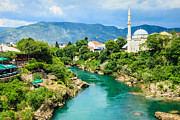 Mostar Framed Prints - Neretva River In Mostar Framed Print by Kelly Cheng Travel Photography