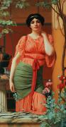 Pre-raphaelites Art - Nerissa by John William Godward