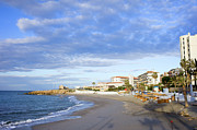 Holiday Destination Prints - Nerja Beach on Costa del Sol Print by Artur Bogacki