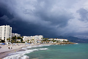Holiday Destination Prints - Nerja Beach on Costa del Sol in Spain Print by Artur Bogacki