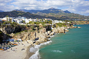 Holiday Destination Prints - Nerja Town on Costa del Sol in Spain Print by Artur Bogacki
