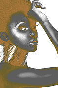 African Woman Prints - Nesha Print by Irina  March