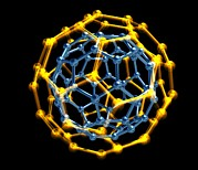 Molecules Posters - Nested Fullerene Molecules Poster by Pasieka