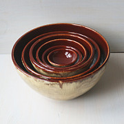 Deep Ceramics Originals - Nesting Bowls - Set of Six by Sheila Corbitt