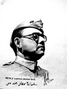 Jackson Sculpture Prints - Neta Ji Subhash Chandra Bose Print by Neel Das