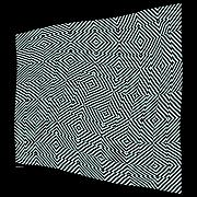 Op Art Digital Art Posters - NetFlag Poster by Dieter Bruhns