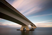 Sea Photography Photos - Netherlands, Zeeland, Zeelandbrug by Kees Smans
