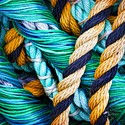 Rope Art - Nets And Knots Number Five by Elena Nosyreva