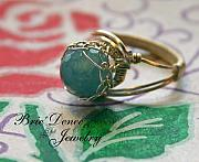Ring Jewelry Originals - Netted Angelite Gem in Sterling Silver by Brittney Brownell