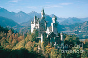 King Ludwig Posters - Neuschwanstein Castle Poster by Edward Drews