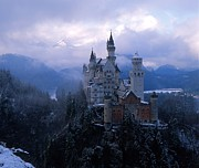 Snowy Prints - Neuschwanstein Print by Don Ellis