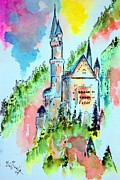 Neuschwanstein Castle Paintings - Neuschwanstein by Myrna Migala