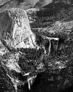 Mariposa County Prints - Nevada and Vernal Falls Yosemite National Park Print by Troy Montemayor