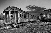 Abandoned Train Prints - Nevada City Ghost Town Train Print by Daniel Hagerman