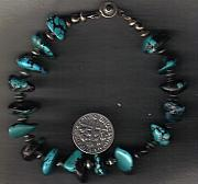 Buffalo Jewelry - Nevada Dark Teal Turquoise Flakes  bracelet by White Buffalo