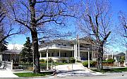 Snow Spring Prints - Nevada Governors Residence Print by Will Borden
