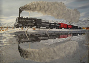 Train Tracks Drawings - Nevada Northbound by Stephen Ponting