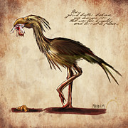 Horror Digital Art Prints - Never Bird Print by Mandem