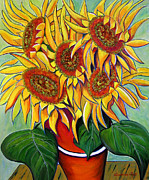 Never Enough Sunflowers Print by Andrea Folts