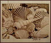 Woodburning Pyrography - Never Lonely at the Bottom by Jo Schwartz
