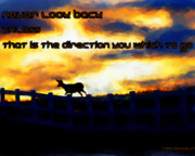 Advise Prints - Never Look Back Unless Print by Irma BACKELANT GALLERIES