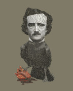 Edgar Allen Poe Metal Prints - Never More Metal Print by Joe Dragt