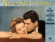 1956 Movies Prints - Never Say Goodbye, Cornell Borchers Print by Everett