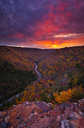 Autumn Landscape Prints - Neverending Autumn Print by Joseph Rossbach