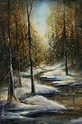Snow Scene Paintings - Neverending by Michael Lang
