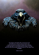 Raven Sculpture Posters - Nevermore Poster by John Hebb