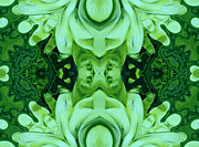 Fractal Paintings - New Abstracts Green by Stefan Kuhn