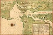 Staten Island Photos - New Amsterdam In 1639. Earliest Map by Everett