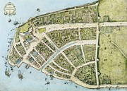 Americans Drawings - New Amsterdam by Pg Reproductions