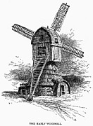 Grain Mill Prints - New Amsterdam: Windmill Print by Granger