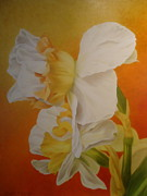 Yellow Daffodils Art Originals - New Beginning by Jean Marie Boyko