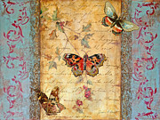 Butterfly Paintings - New Beginning by Jean Plout