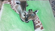 Giraffe Pastels - New Beginning by Samantha Metcalf