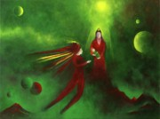 Warrior Goddess Paintings - New Birth by Lawrence Neal Katzman