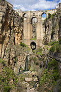 Ronda Prints - New Bridge in Ronda Print by Artur Bogacki